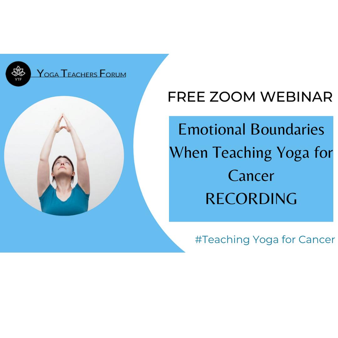 Emotional Boundaries When Teaching Yoga for Cancer